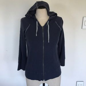 Fitigues Navy Blue Thermal Hoodie Hoody Small